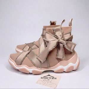 ⭕️ RED VALENTINO Sneakers Nude Beige Knitted